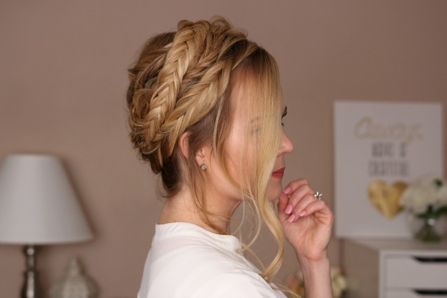 Double Fishtail Crown Braid