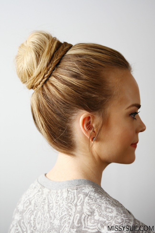 Fishtail Embellished Top Knot
