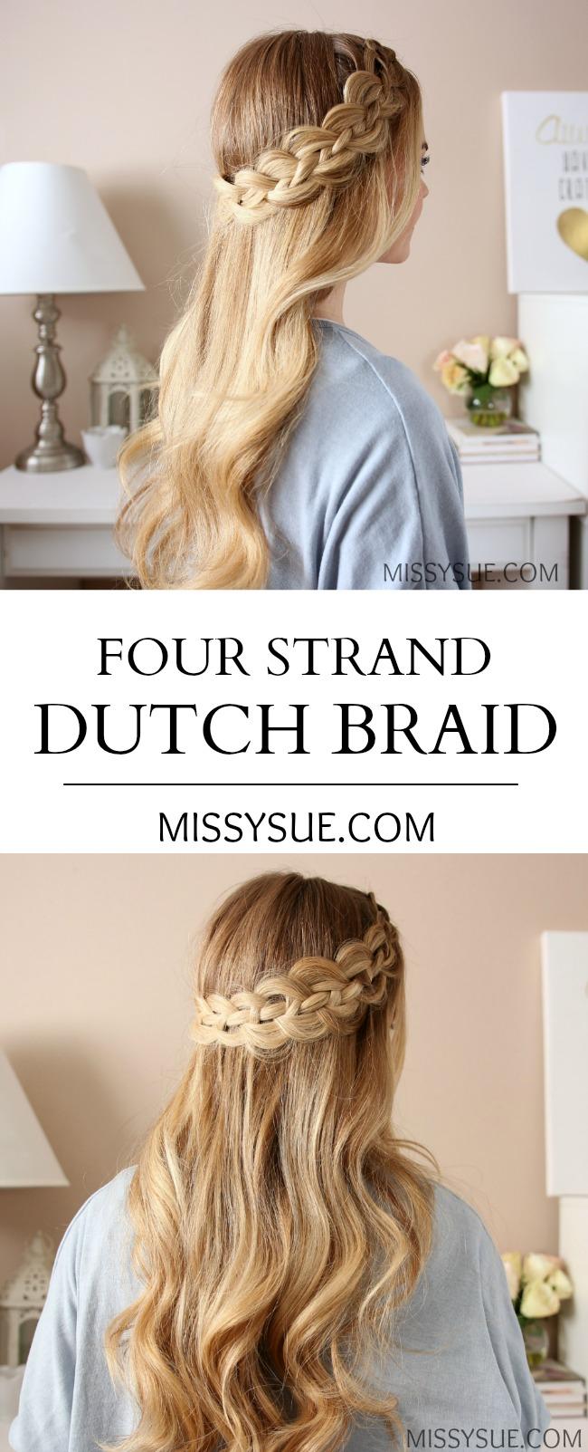 Four Strand Dutch Braid