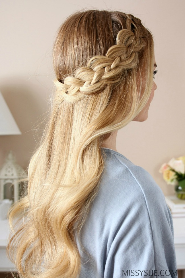 Four Strand Dutch Braid Missy Sue