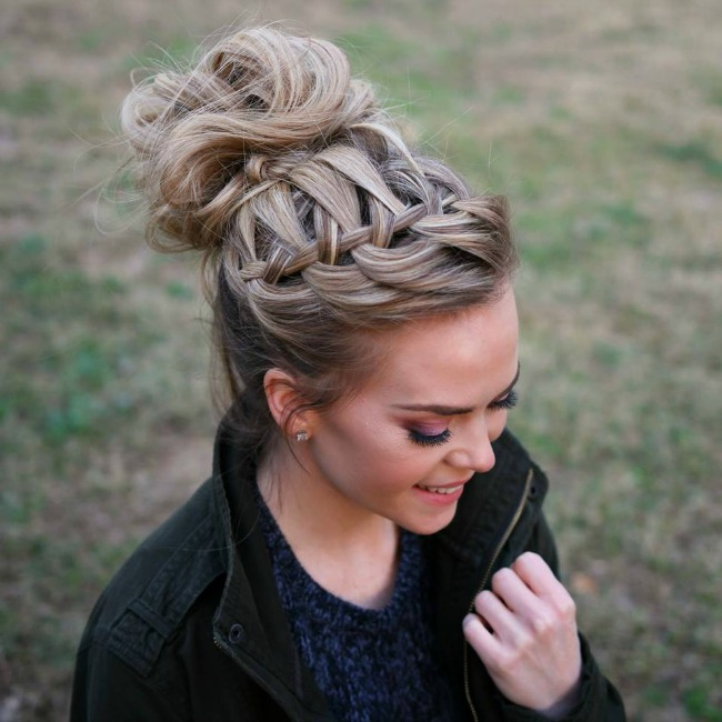 waterfall-braid-top-knot