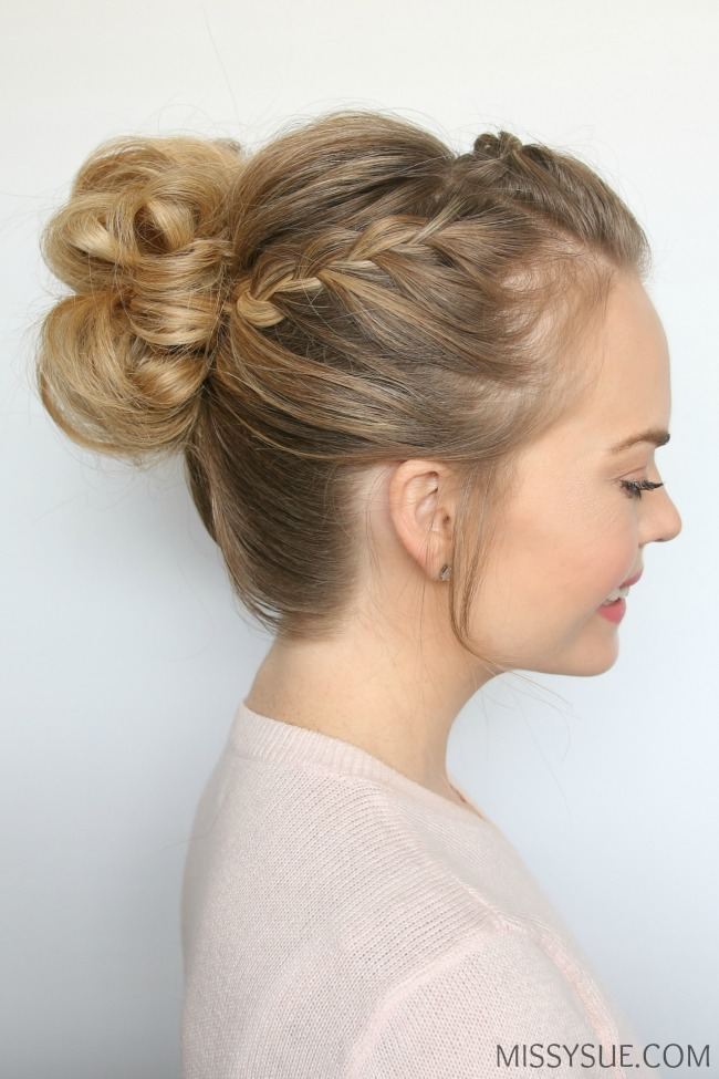 double-lace-braid-messy-bun