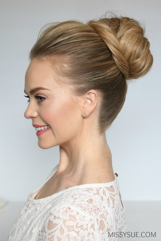 high-bun-knot-tutorial-with-extensions