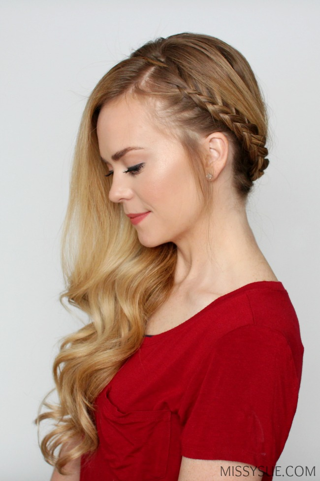 side swept hair style bohemian sideswept braid sue 3913