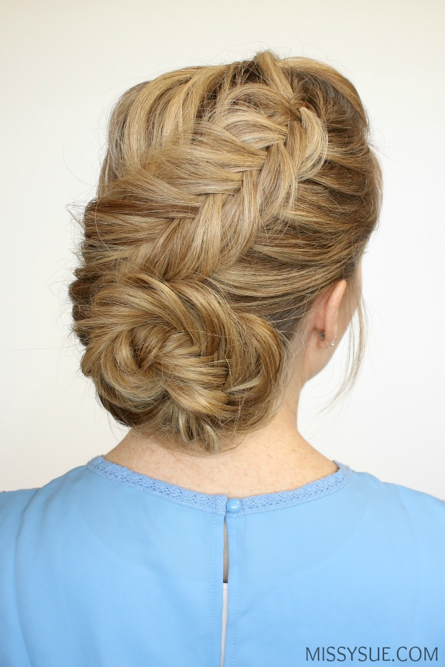 dutch-fishtail-low-bun-updo-bridal-prom