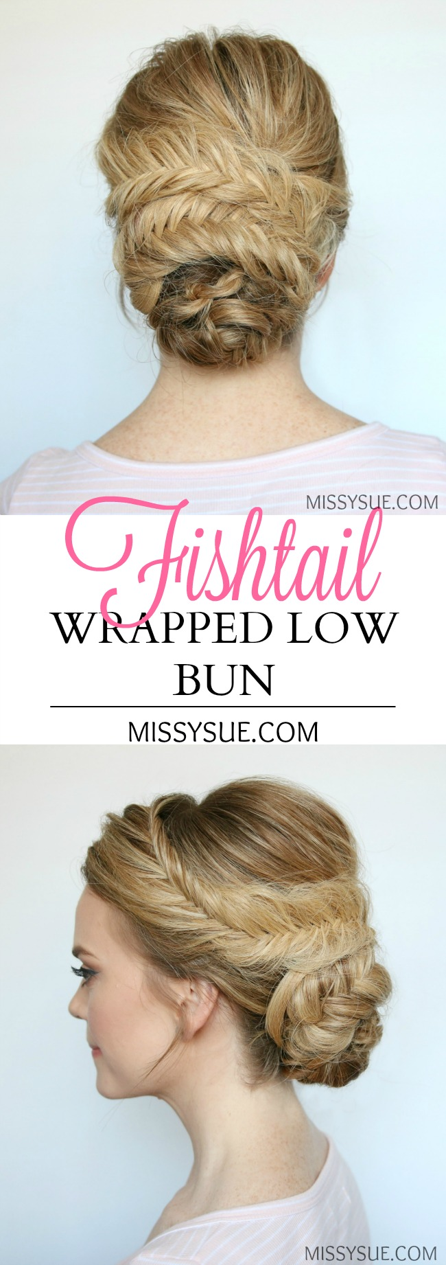 fishtail-wrapped-low-bun-tutorial-prom-bridal