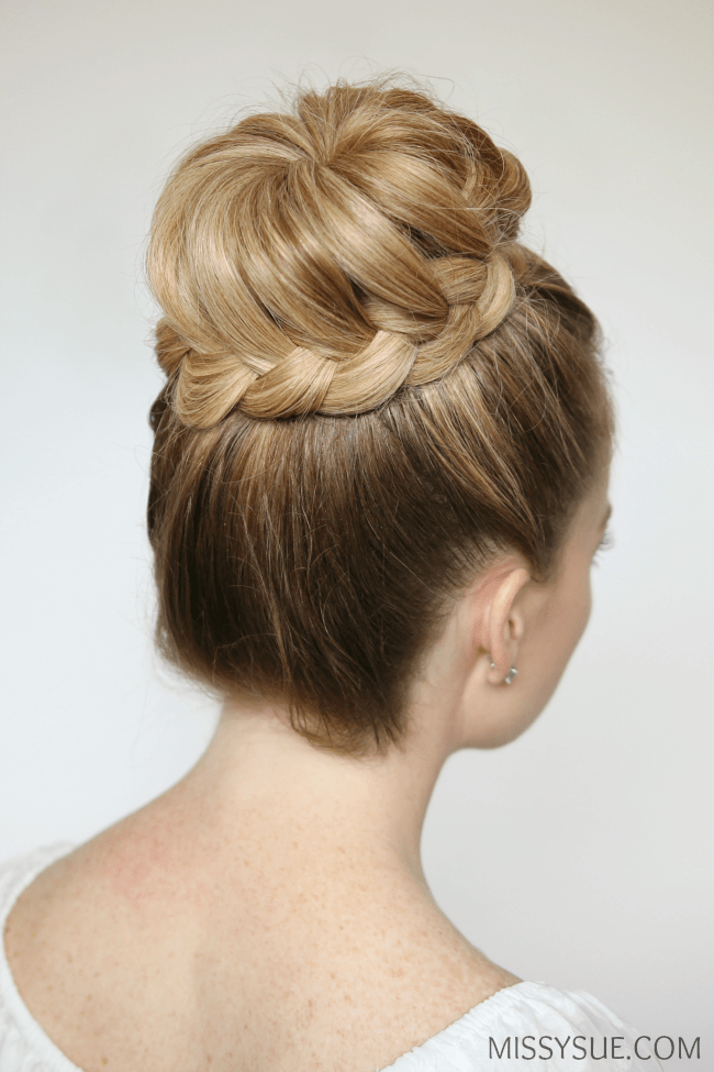 french-braid-top-knot-tutorial-bridal