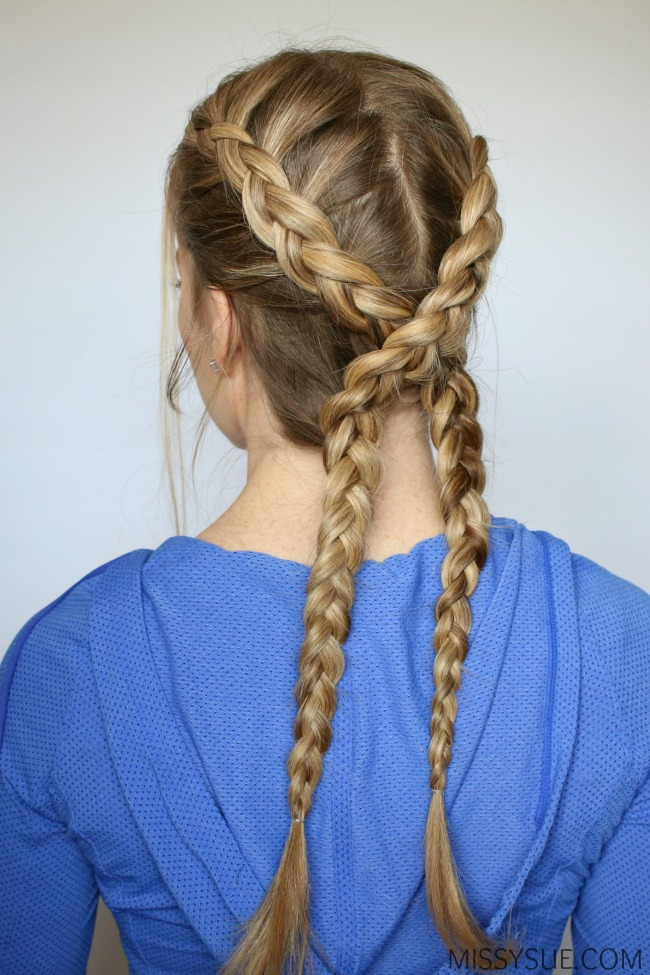 Dutch Braided Headband: 3 Sporty Hairstyles