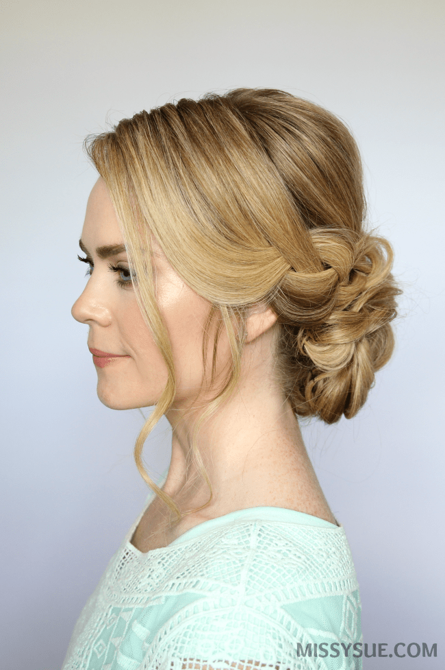 Braid And Low Bun Updo Missy Sue
