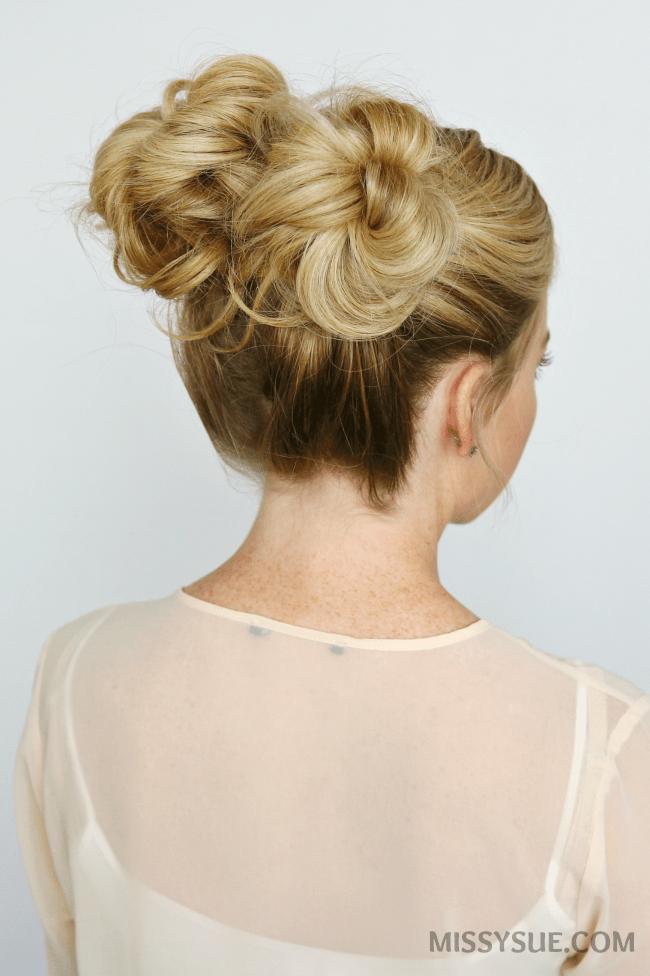 double-high-buns-hair-tutorial