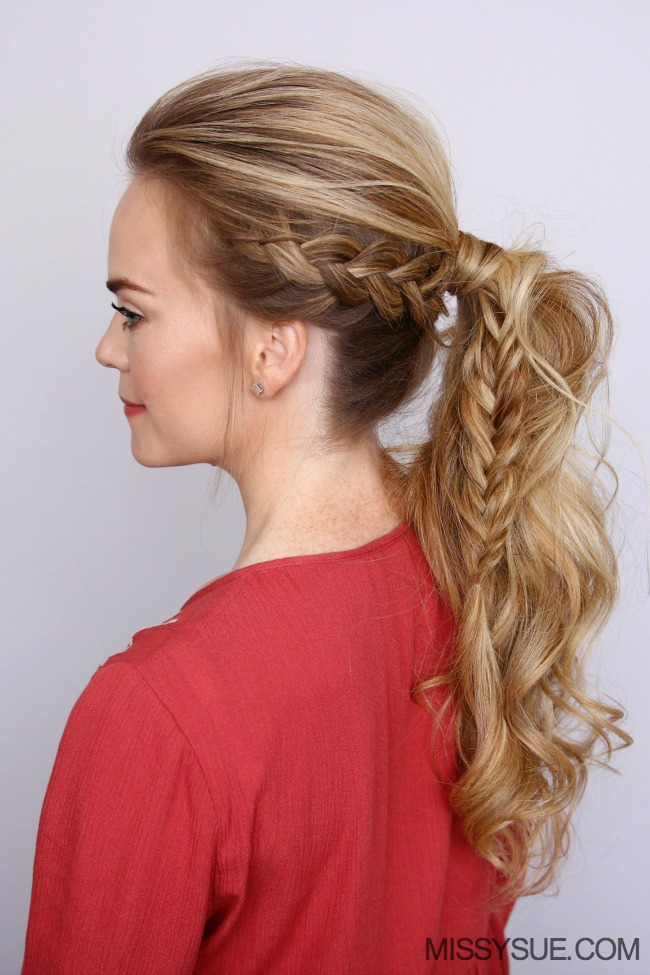 dutch-braid-fishtail-ponytail-hairstyle