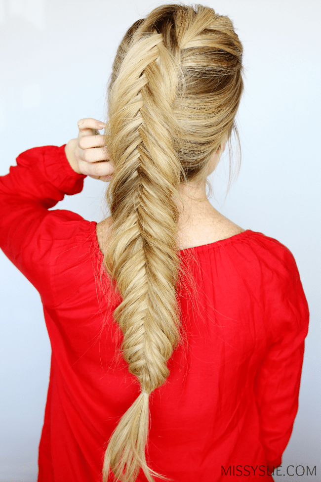 Reverse Fishtail Braid Cute Braided Hairstyles