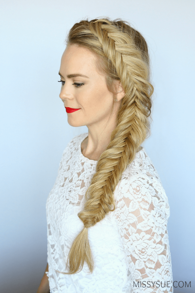 how to dutch fishtail braid missy sue
