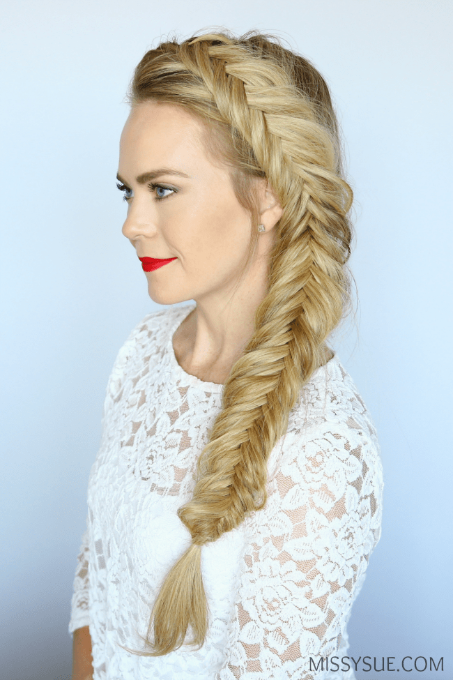 dutch-fishtail-side-braid-hairstyle-tutorial
