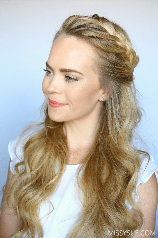 half-up-french-braid-crown-hairstyle