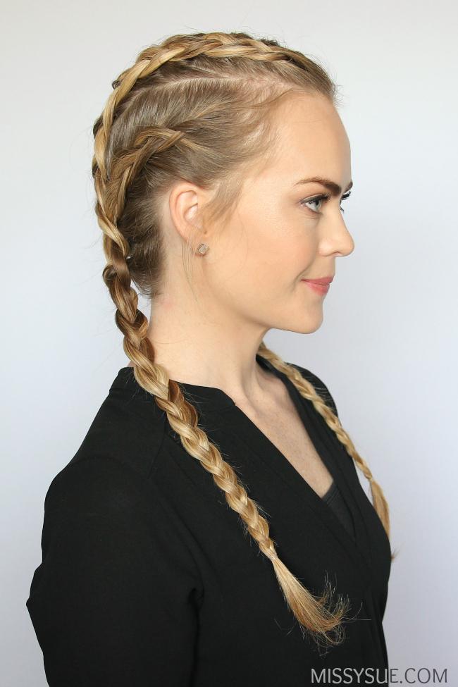 Prime 4 Dutch Braids Hair Tutorial Missy Sue Hairstyles For Men Maxibearus