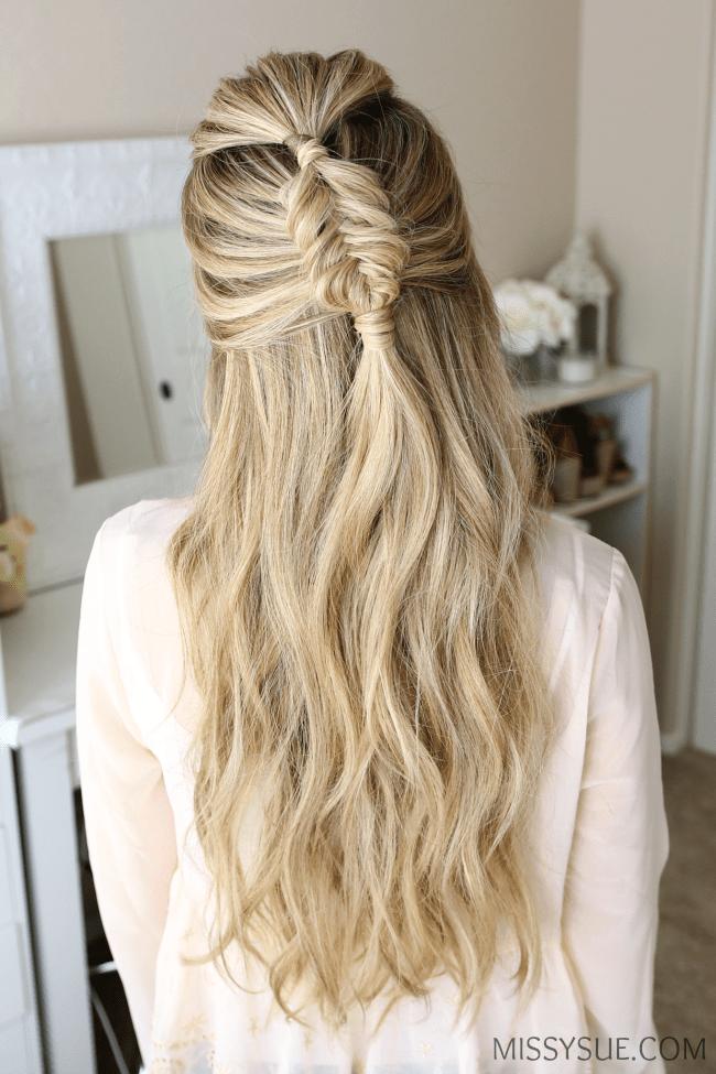 halfup-fishtail-braid-hairstyle