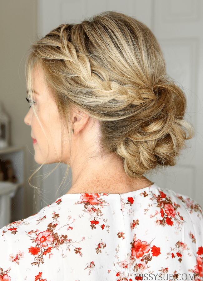 Double Lace Braids Updo Missy Sue