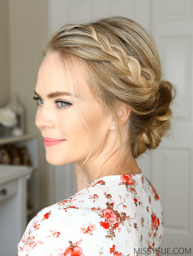 lace-braid-low-bun-hairstyle