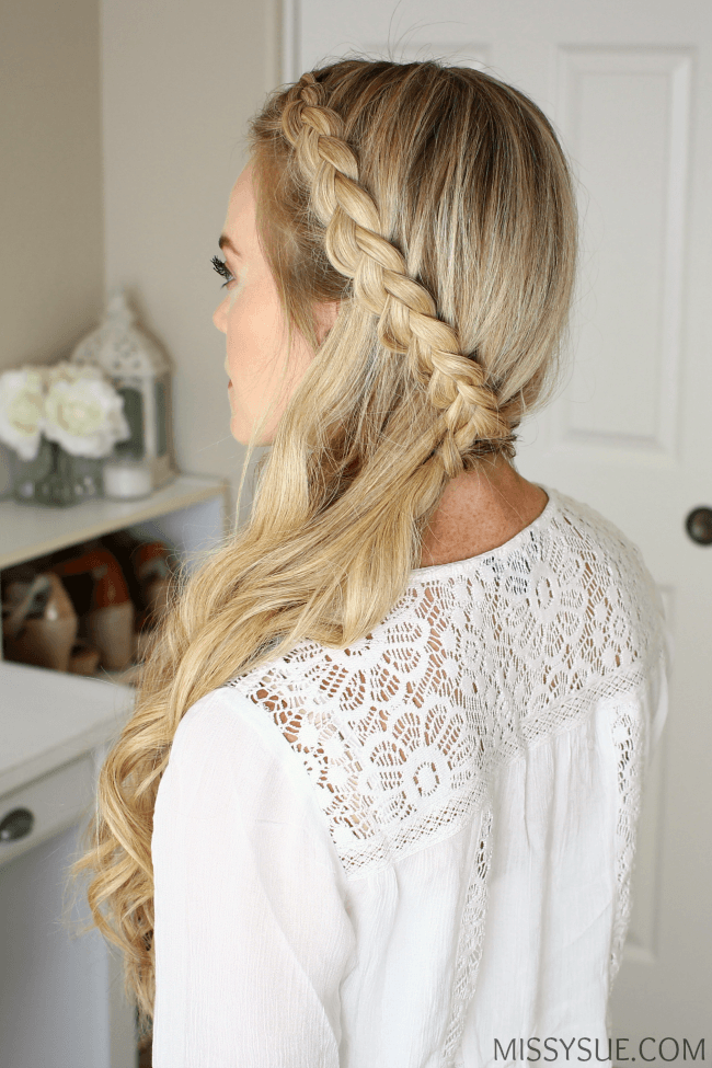 Sideswept Dutch Braid Tutorial