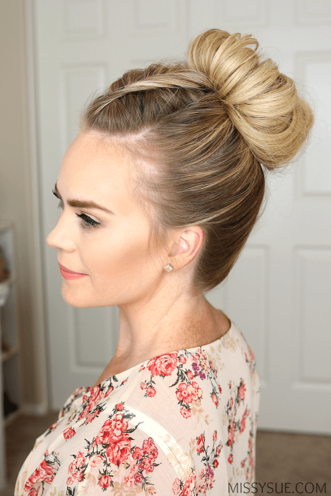 dutch-fishtail-high-bun-hairstyle