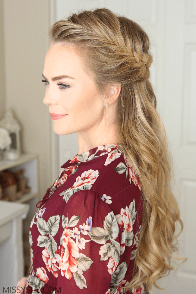 half-up-fishtail-french-braid