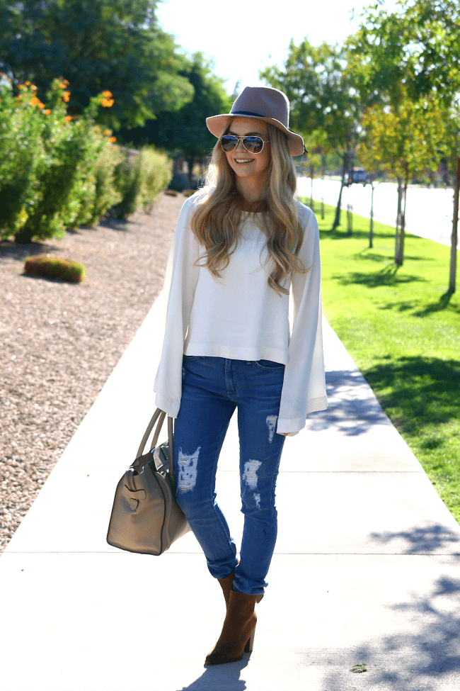 bell-sleeves-distressed-denim-fall-fashion