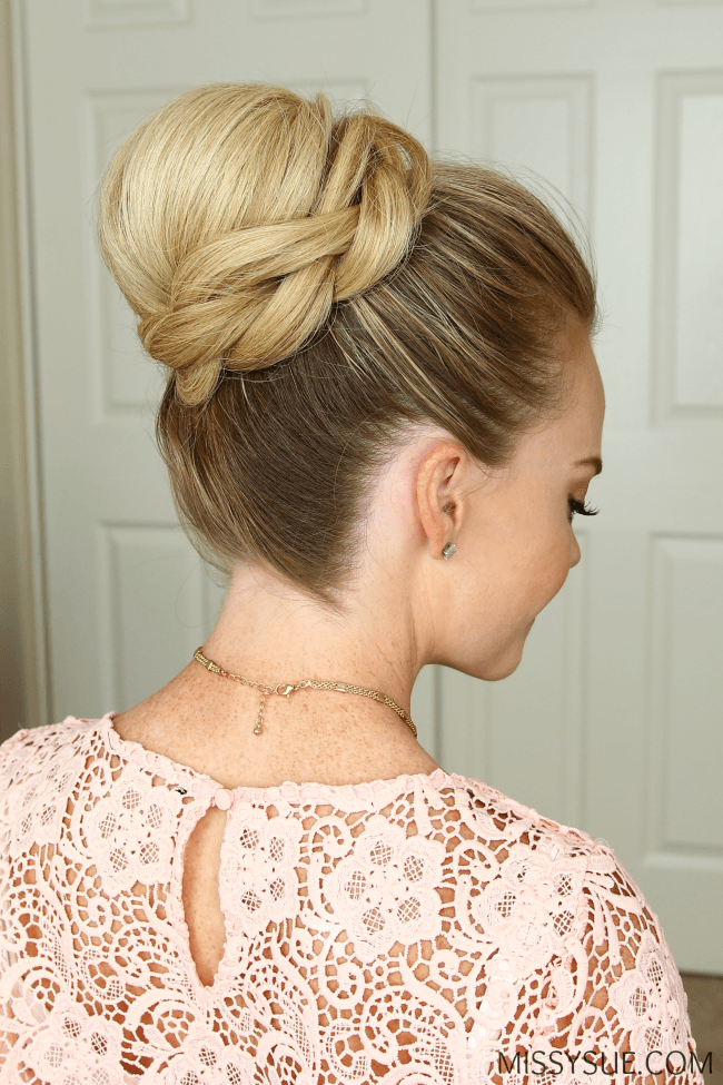 high-bun-wrapped-braid-hairstyle