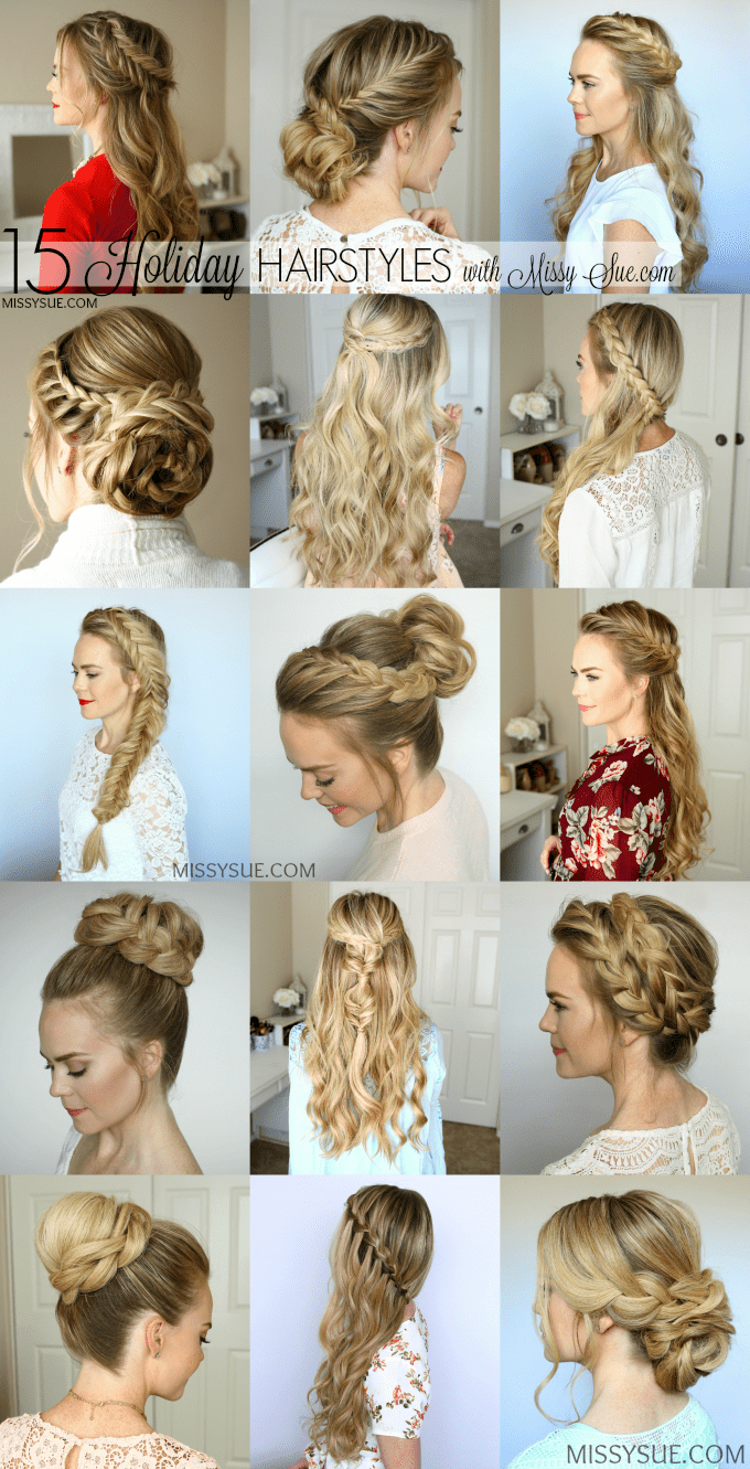 Cool 15 Holiday Hairstyles Missy Sue Short Hairstyles Gunalazisus