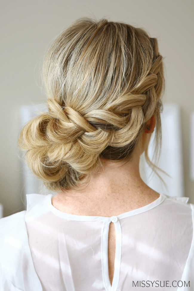 Dutch Braid Holiday Updo Missy Sue