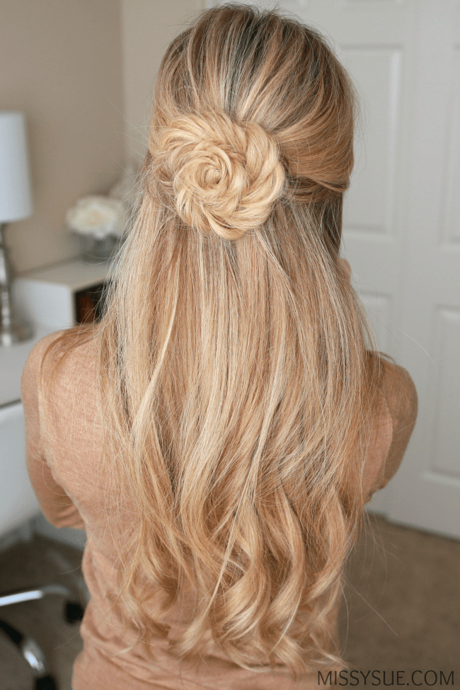fishtail braid flower missy sue