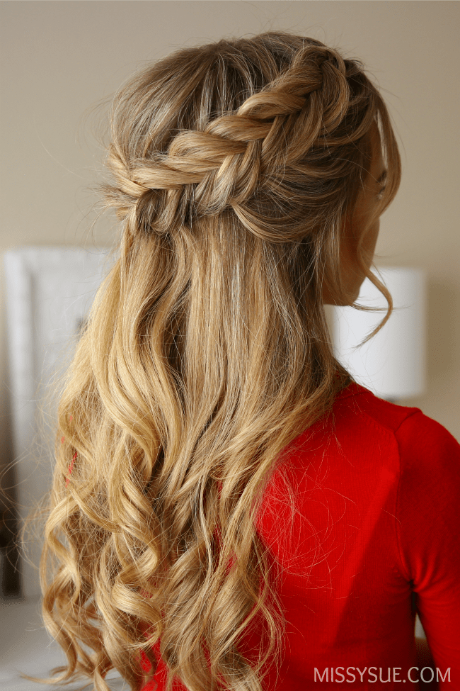 half-up-fishtail-braids