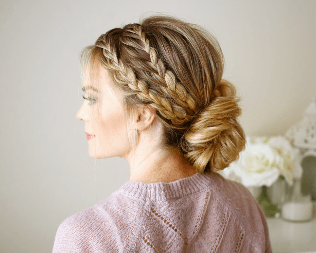 Triple Braided Updo