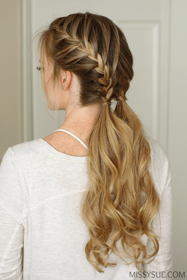 double french braid ponytails hair tutorial