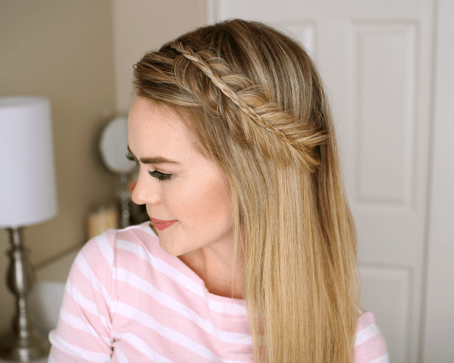 Stacked Fishtail and Mini Braid