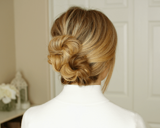 Twisted Buns Updo