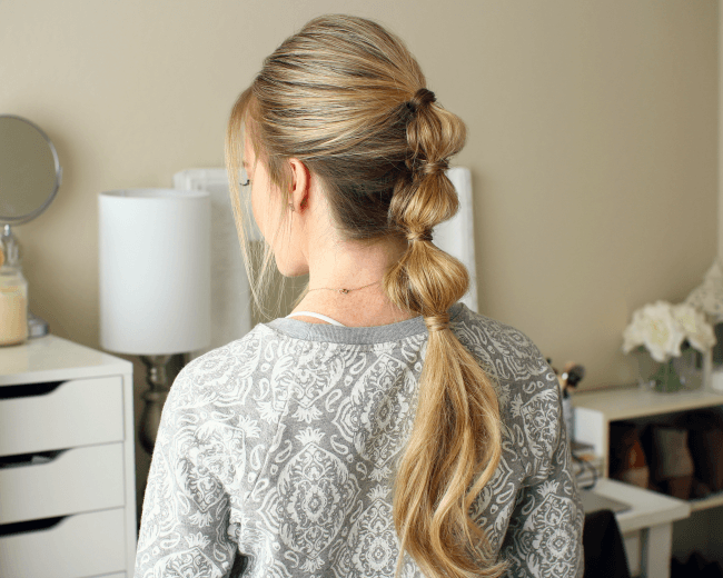 Triple Bubble Ponytail