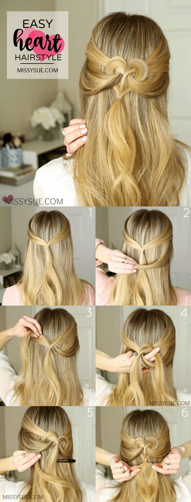 Heart Hairstyles 2 Ways