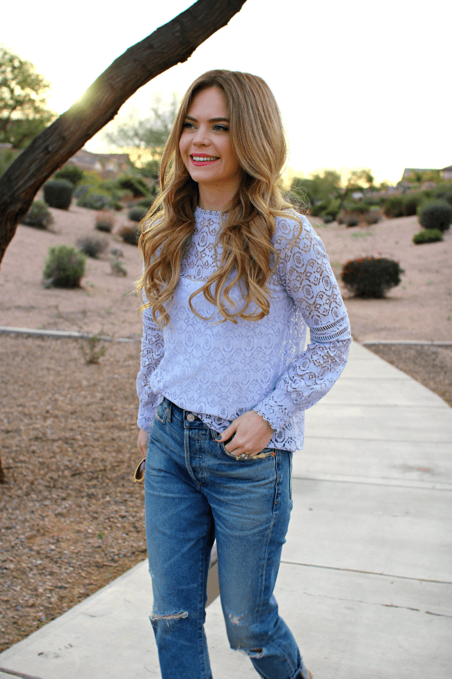 Lace and Boyfriend Jeans