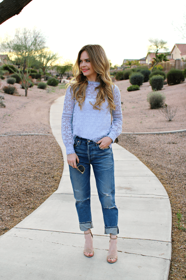 Lace And Boyfriend Jeans Missy Sue
