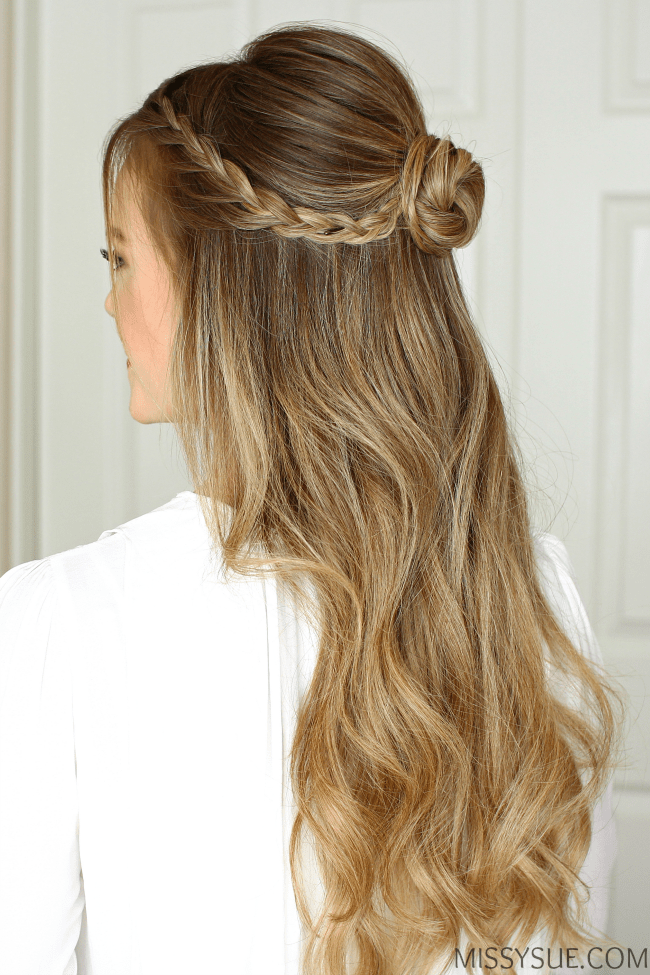 hair half up styles half up braid wrapped bun fsetyt 4495