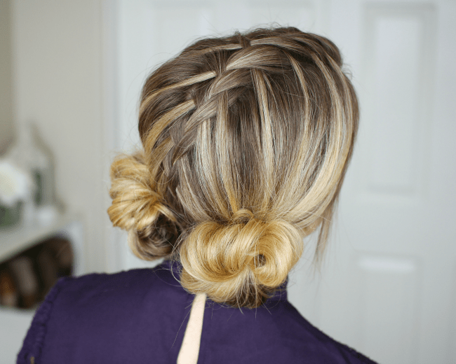 Waterfall Mohawk Double Low Buns