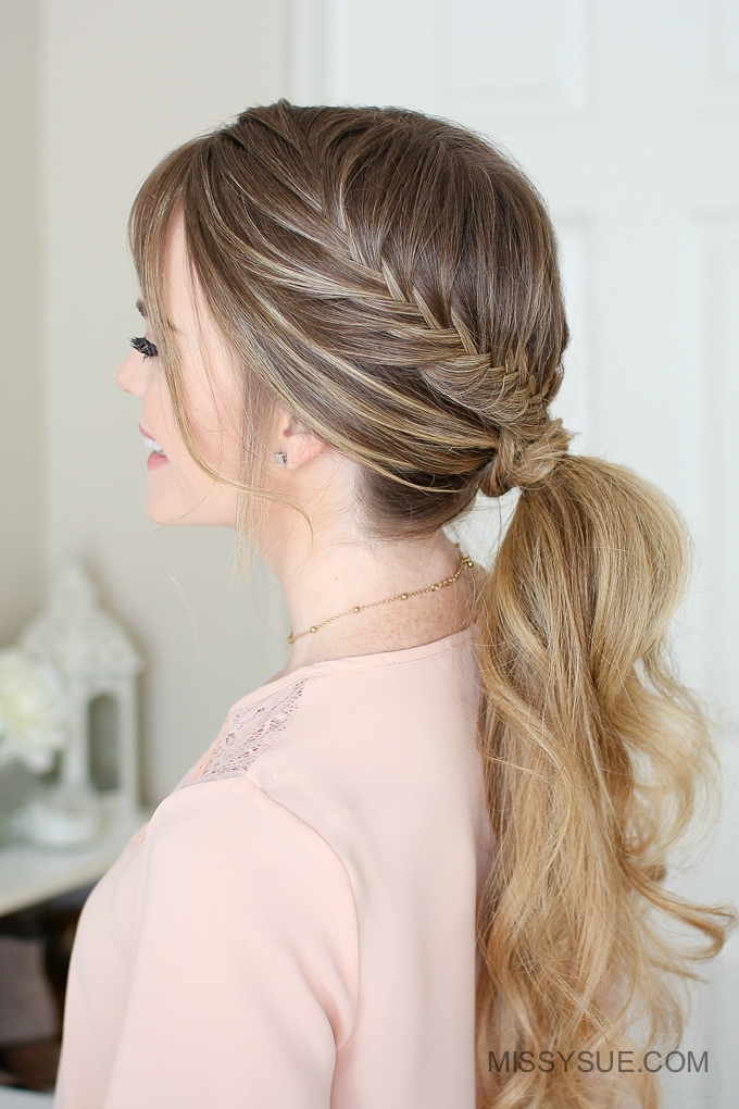 Double Fishtail Wrapped Ponytail