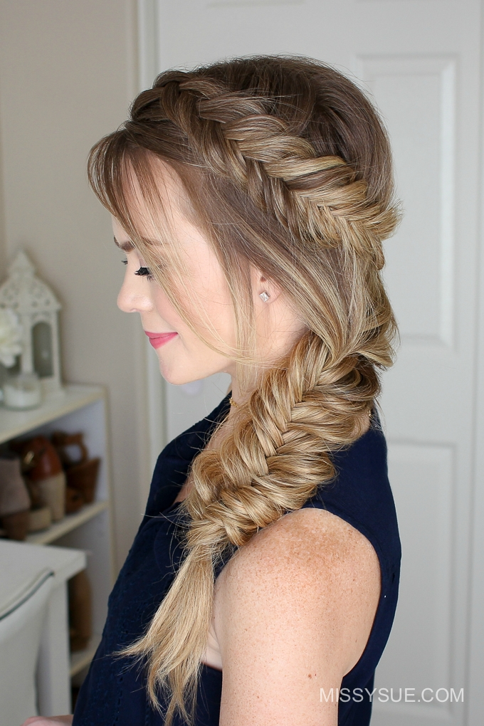dutch fishtail summer side braid missy sue