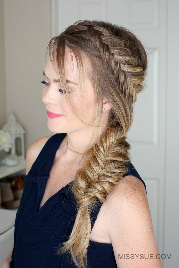 Dutch Fishtail Summer Side Braid Instructions