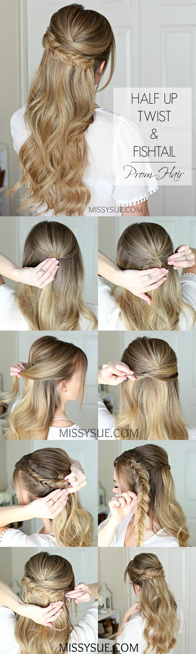 Easy Half Up Prom Hair Missy Sue
