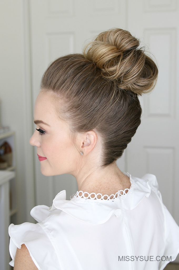 Frenchbraidhighbunhairstyletutorial MISSY SUE - High bun hairstyle tutorial