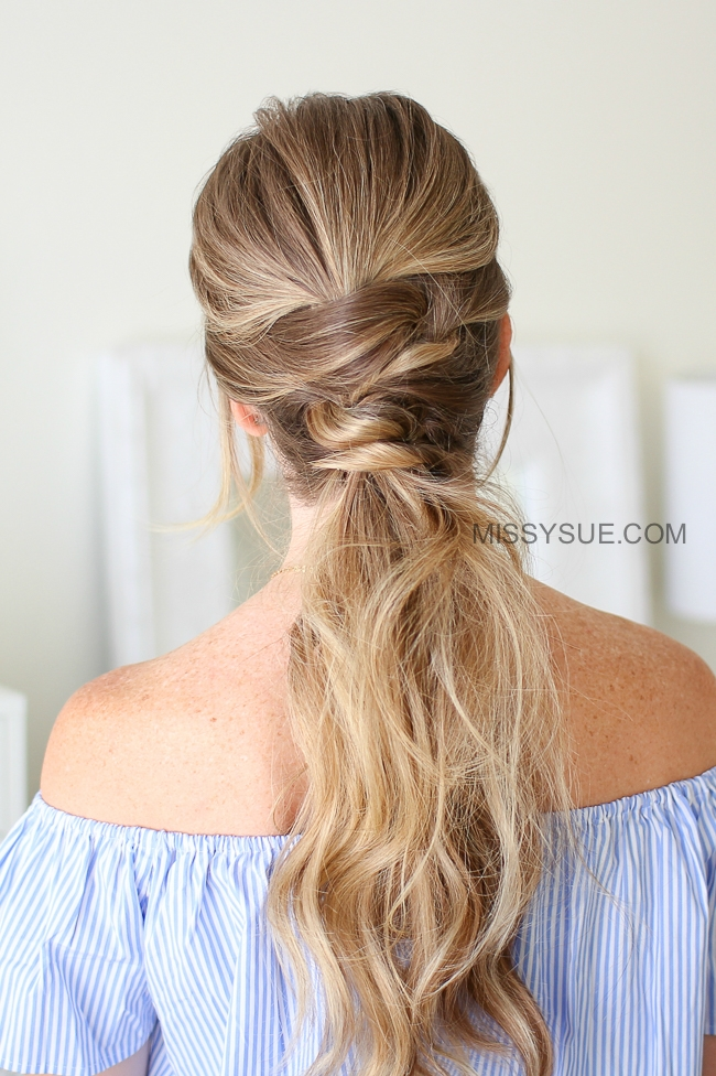 Triple Wrapped Ponytail