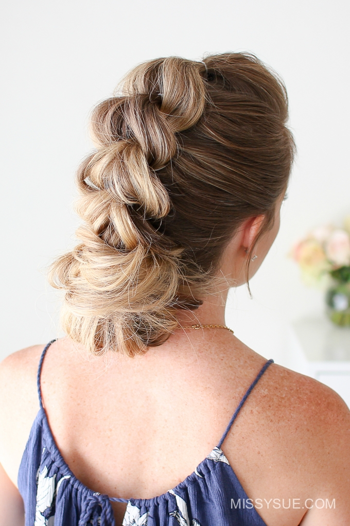 Pull Through Braid Low Bun