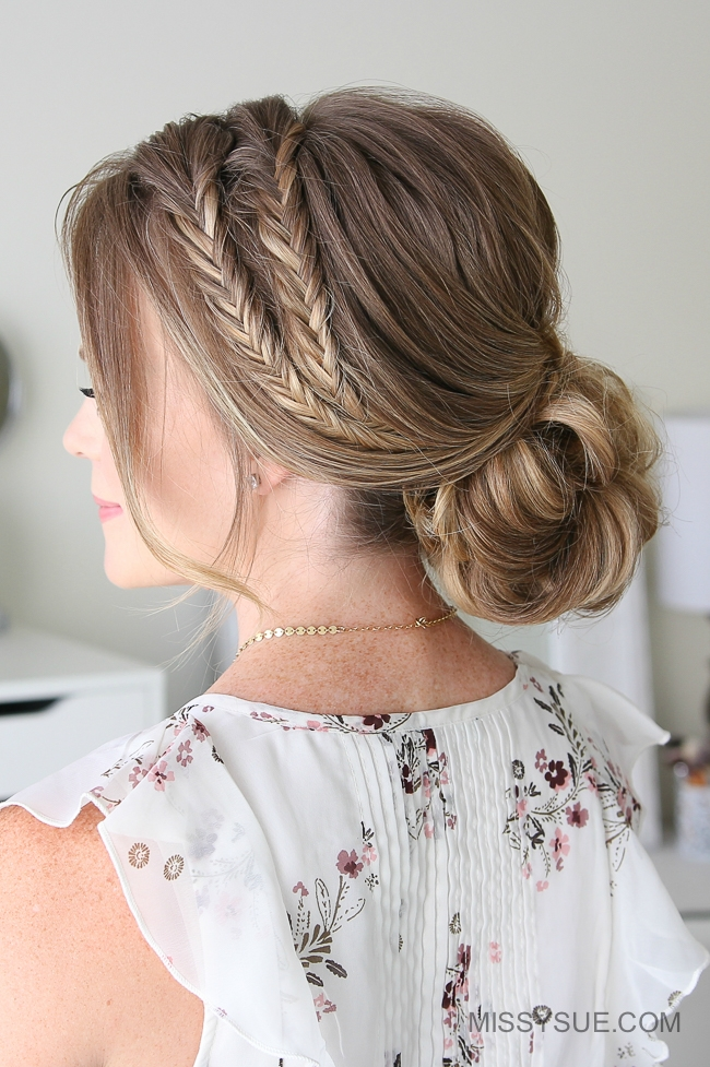 Double Fishtail Braid Updo